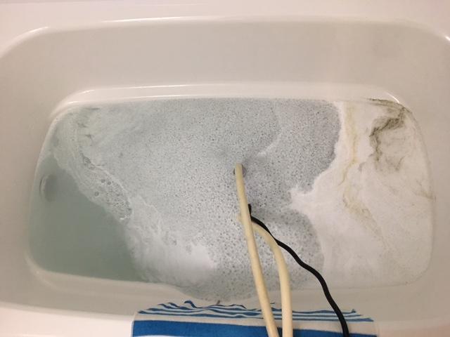 中央区佃 風呂釜洗浄①
