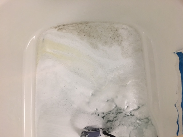 中央区佃 風呂釜洗浄④