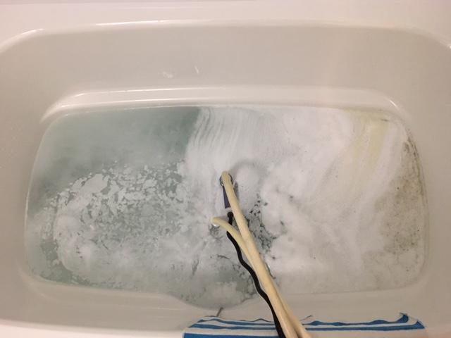 中央区佃 風呂釜洗浄③