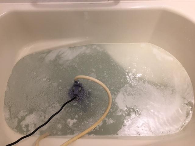 海老名市 風呂釜洗浄④
