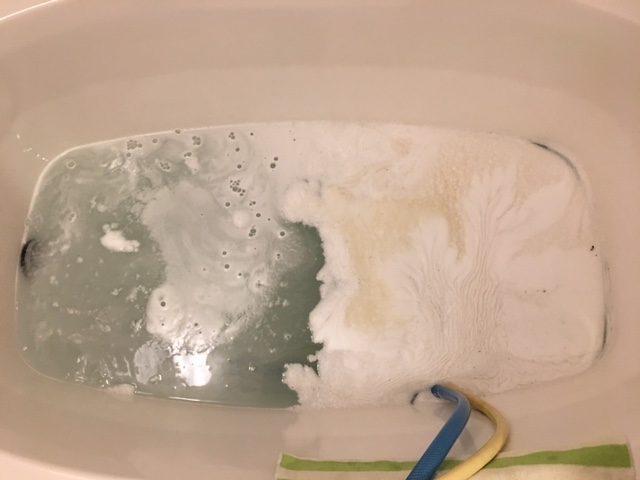 湯張りで黒い汚れが止まらない⑨