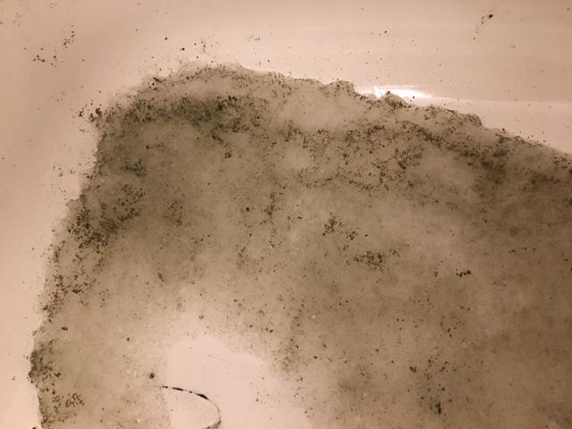 湯張りで黒い汚れが止まらない⑮